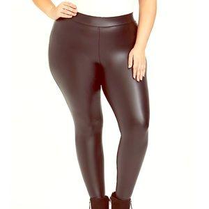 Torrid brand faux black leather leggings size 3